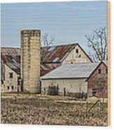 Ethridge Tennessee Amish Barn Wood Print