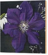 Etoile Violette - Clematis Wood Print