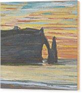 Etretat. Cliff Of Aval Wood Print