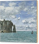 Etretat. The Cliff Of Aval Wood Print
