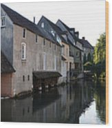 Eure River And Old Fulling Mills In Chartres Wood Print