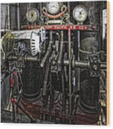 Eureka Ferry Steam Engine Controls - San Francisco Wood Print