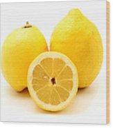 Eureka Lemons Wood Print