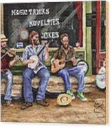 Eureka Springs Novelty Shop String Quartet Wood Print