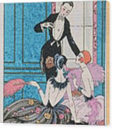 'europe' Illustration For A Calendar For 1921 Wood Print by Georges Barbier