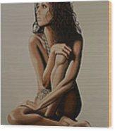 Eva Longoria Painting Wood Print