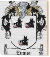 Evans Coat Of Arms Irish Wood Print