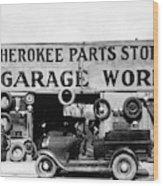 Evans Garage, 1936 Wood Print