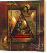 Eva's Guilt And Adam's Love Wood Print by Franziskus Pfleghart