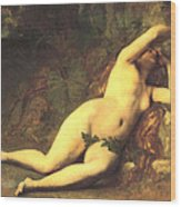 Eve After The Fall Wood Print