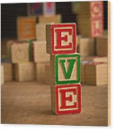 Eve - Alphabet Blocks Wood Print