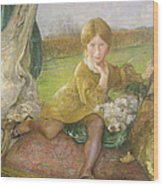 Evelyn Wood Print by Annie Louisa Swynnerton