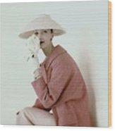 Evelyn Tripp Wearing Pink Wood Print