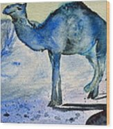 Even Camels Get The Blues Wood Print