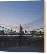 Even The Clouds Aligned With St Paul's Cathedral And The Millennium Bridge - London Wood Print