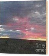 Evening Arizona Sky Wood Print