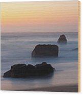 Evening At Beach 5 Wood Print