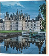 Evening At Chateau Chambord Wood Print