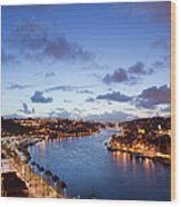 Evening At Douro River In Portugal Wood Print