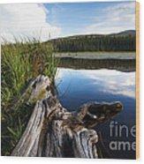 Evening At Red Rock Lake Wood Print