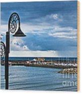Evening Calm At Lyme Regis Wood Print
