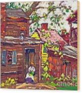 Evening Chore 1910 Wood Print