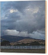 Evening Clouds Over Ashland Farm Country Wood Print