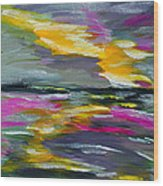 Evening Colors Wood Print