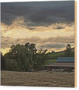 Evening Farm Scene Near Ashland Wood Print