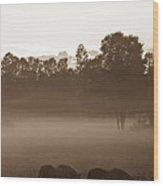 Evening Fog Wood Print