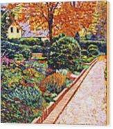 Evening Garden Stroll Wood Print by David Lloyd Glover