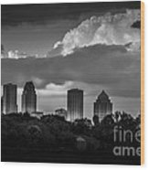 Evening Gray Wood Print