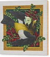 Evening Grosbeak Wood Print