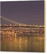 Evening II New York City Usa Wood Print