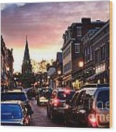 Evening In Annapolis Wood Print