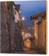 Evening In Cusco  Wood Print