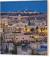 Evening In Jerusalem Wood Print