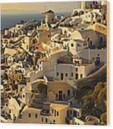 evening in Oia Wood Print