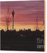 Evening In Riverfront Park Wood Print