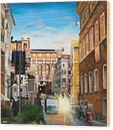 Evening In Rome Wood Print