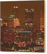 Evening In The City Of Champions Wood Print
