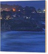 Evening In The Coastside Community Of Montara Wood Print