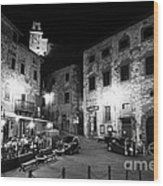 Evening In Tuscany Wood Print
