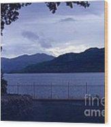 Evening Light At Inversnaid Wood Print