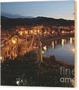 Evening Light In Collioure Wood Print