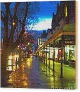 Evening Light On Lord Street Wood Print