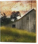 Evening Light Over Taylor Farm Wood Print