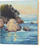 Evening Light Point Lobos Wood Print