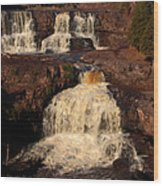 Evening Light Waterfalls Wood Print