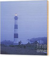 Evening Mist On Bodie Island - Fm000080 Wood Print